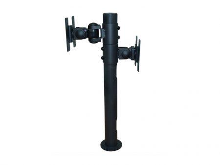 Монтажна стойка за два монитора с въртящи се рамене черна.
