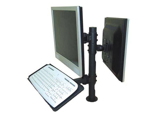 Монтажна стойка за POS системи, предназначена за монтиране на два монитора и клавиатура