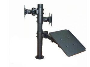 Монтажна Стойка за два монитора и поставка за принтер