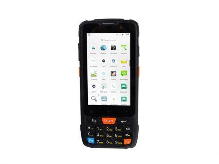 Мобилен компютър / терминал Caribe PL-40L 2020 с Android 8.1 и вграден 2D баркод четец Honeywell 6603 и NFC четец.