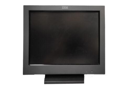 Тъч монитор IBM 15'' 4820-51G втора употреба.Снимка отпред.
