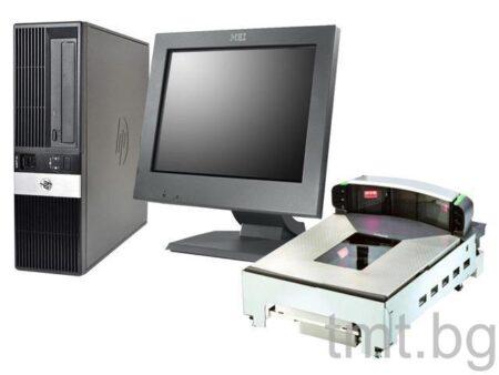 Комплект POS система HP RP5800 с Тъч монитор IBM M/T 4820-5GB и везна Magellan 9800i втора употреба