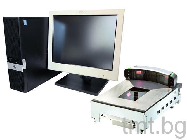 Комплект POS система HP RP5800 + Тъч монитор IBM M/T 4820-51W + Magellan 9800i втора употреба