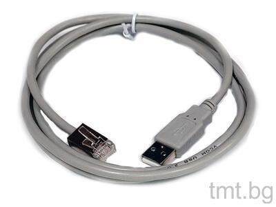USB кабел съвместим с везна Mettler Toledo Ariva, вградена в баркод скенер Magellan 9800i