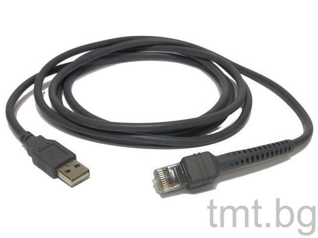 USB кабел съвместим със скенери Motorola Symbol LS2208, Motorola Symbol LS4208, Motorola Symbol DS6878, Motorola Symbol DS6708