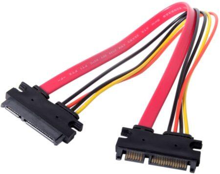 Нов удължителен кабел SATA 22 Pin Male To Female SATA 3 III 22 Pin Male to Female 7+15 Pin SATA Data Power .