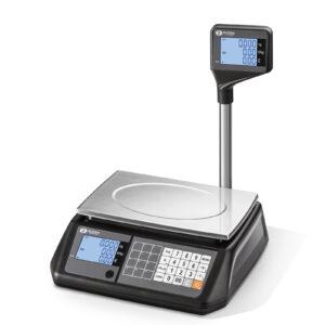 Търговска везна S300FM с дисплей кула на Еликом Силистра за магазини и пазари.