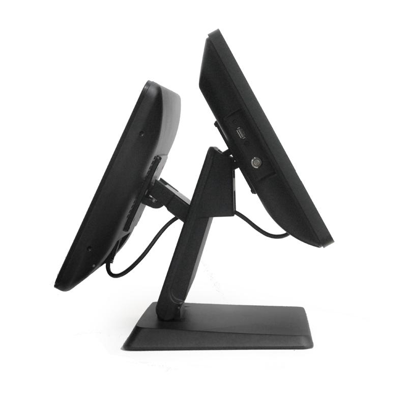 Нова, двойна, висококачествена и удобна POS стойка за тъч монитори стандарт на захващане VESA.